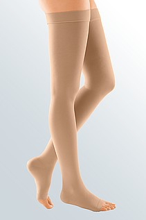 duomed soft compression stockings sand