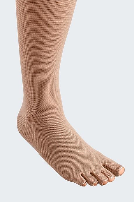 mediven mondi compression stockings toe cap caramel