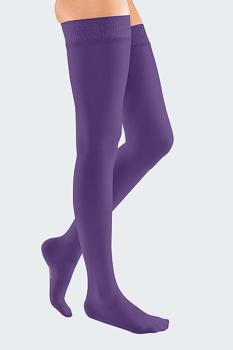 mediven elegance compression stockings veanous treatment violett