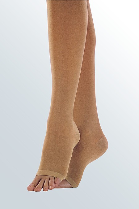 Open toe models for compression stockings from medi