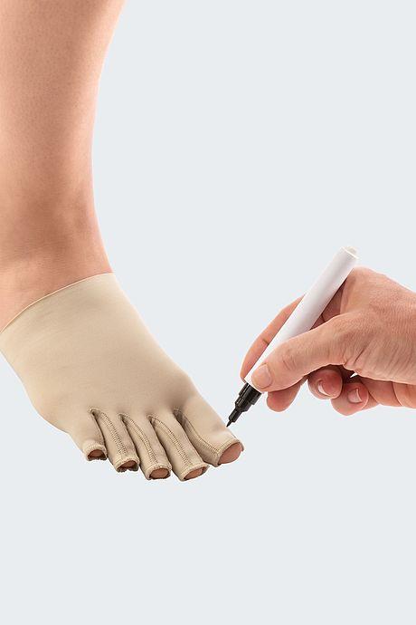 Circaid toe cap marking