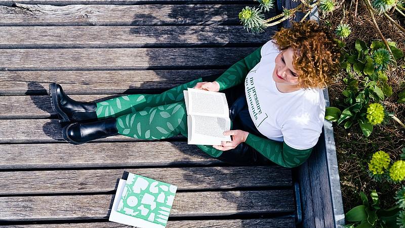 Carina Schmalenberg wears the new mediven fashion-element nature