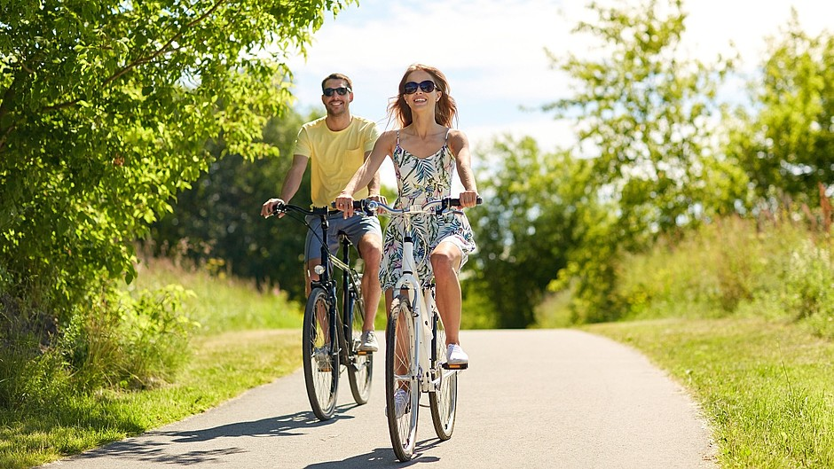 protect series image picture young couple cycling